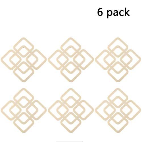 6 pack Dreifuß Isolations-Pads TPR Hohltopflappen Geschirr Matte Tischset Anti-Rutsch-Isolierung und langlebig (Color : Beige)