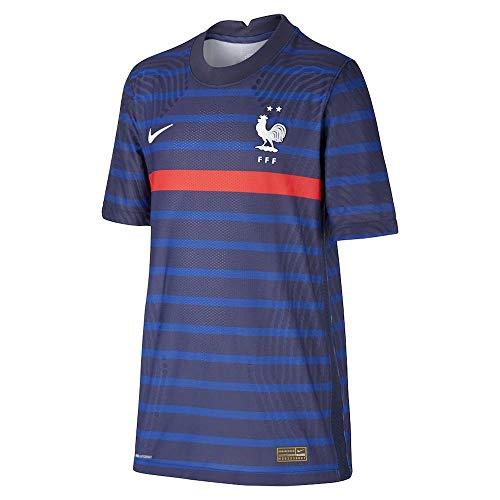 Nike 2020-2021 France Home Vapor Football Soccer T-Shirt Jersey (Kids)