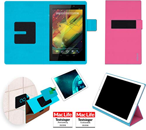 Hülle für HP Slate 7 VoiceTab Tasche Cover Hülle Bumper | in Pink | Testsieger