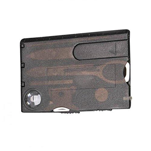 12 in 1 Handy-Multifunktions Reise im Freien¨¹berlebens kampierende Werkzeug-Karten-Messer-LED-Licht Lupe Campingausr¨¹stung Kit Set