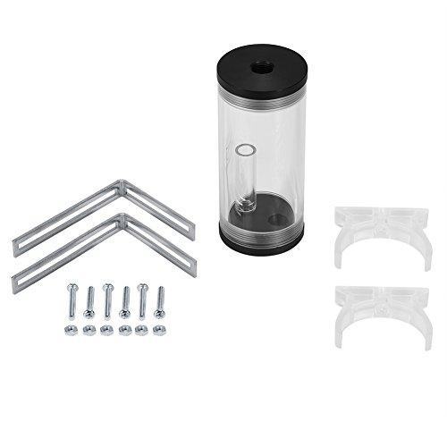 Richer-R G1/4 Gewinde Zylinder Reservoir Tank, 50 mm Durchmesser PC Flüssigkeit Wasserkühlung Volloffene Zylinder Wasserbehälter Tank Kit für PC Wasserkühlung