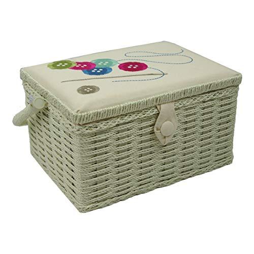 Sewing-Online Botones Aguja Hilo Crema Bordado Medio Caja de Coser FM-001