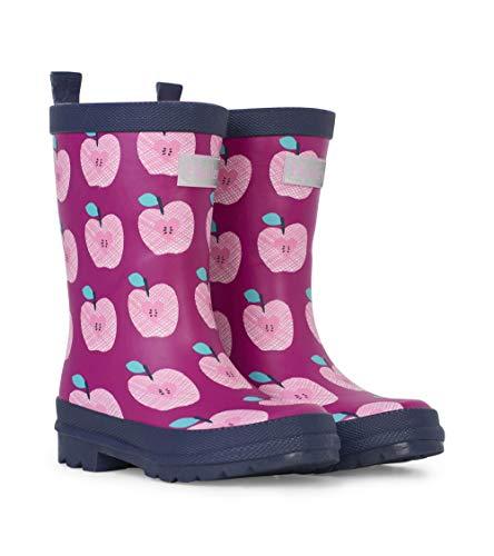 Hatley Mädchen Printed Wellington Rain Boots Gummistiefel, Pink (Apple Orchard 650), 21 EU