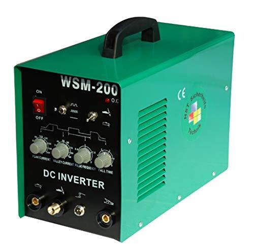 HST TIG WIG SCHWEIßGERÄT MMA WSM 200 Amp HF-Zündung Inverter Puls Funktion