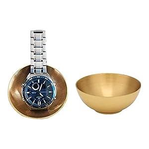 3 Inch Diameter Decorative Bowls, Buddhist Offering Bowl Pure Brass Handmade Buddhist Supply God Buddha Worship Decorative Bowl Utensil