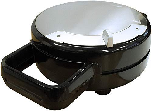 MPM MGO-30M Gofrera para 5 gofres Forma de corazón, regulador de Temperatura, Placas Antiadherente, Carcasa Acero Inoxidable, 1000W, 1000 W, Plateado y negro