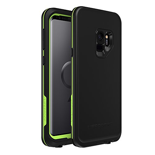 LifeProof FRĒ Series Waterproof Case for Samsung Galaxy S9 - Retail Packaging - Night LITE (Black/Lime)