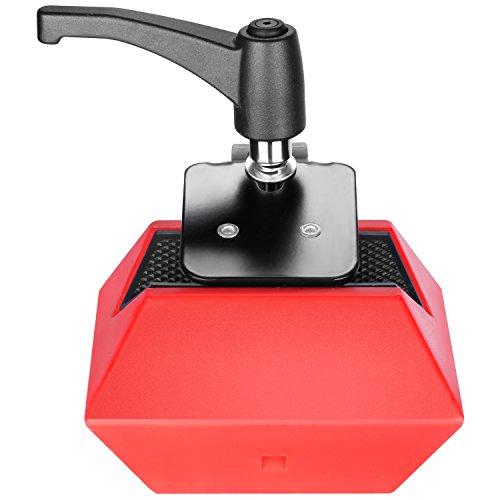 Neewer Lichtständer, Ausleger-Gegengewicht, Metall, abnehmbar, ausgeglichen, 4 kg, mit verstellbarem Lagerblock für Galgenarm, Mikrofonständer, C-Ständer, rot