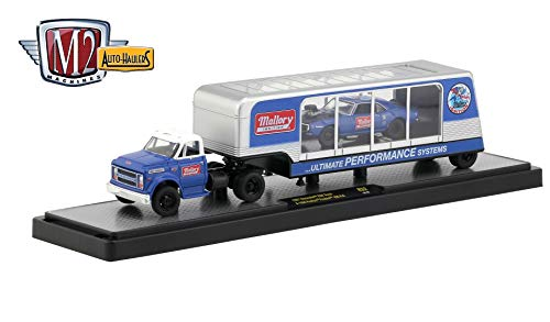 M2 Machines 1967 Chevrolet C60 Truck & 1968 Pontiac Firebird 400 H.O 2018 Auto-Haulers Release 32 - Castline 1:64 Scale Die-Cast Vehicle & Display Case (R32 18-23)