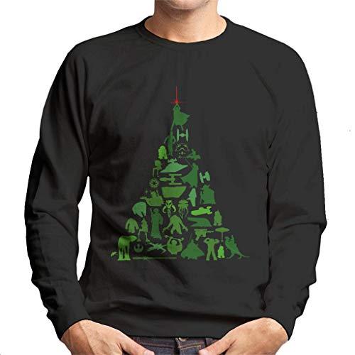 Star Wars Christmas Character Montage Xmas Tree Men's Sweatshirt