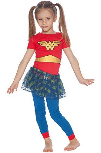 DC Comics Baby Girls Wonder Woman 'Gold Logo Ballet Tutu' Pajama Set, Multi, 24MO