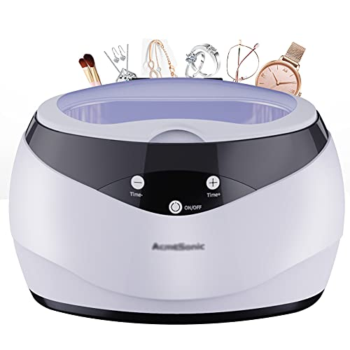 WDNMZX Máquina limpiadora ultrasónica para Gafas, joyería, Cepillo de Maquillaje, Limpiador ultrasónico para el hogar, Mini Limpiador portátil para Collar, Gafas, Reloj, Monedas de Metal