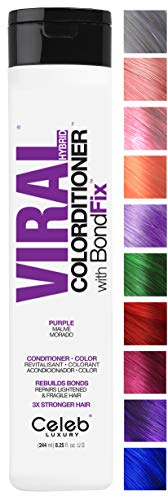 Celeb Luxury Viral Colorditioner: Professional Color Depositing Conditioner, BondFix Bond Repair, Infuse Semi-Permanent Vivid and Pastel Colors, for Color-Treated Hair Maintenance, Vegan