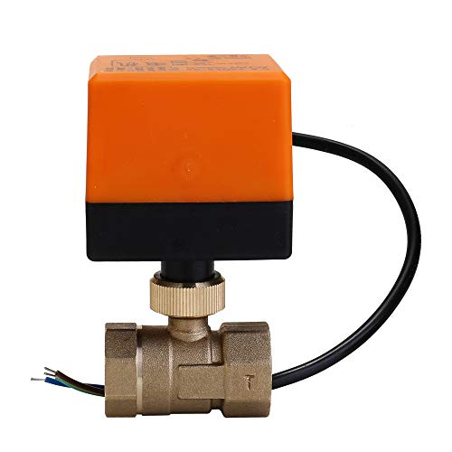 Válvula de bola de latón motorizada electrica 1