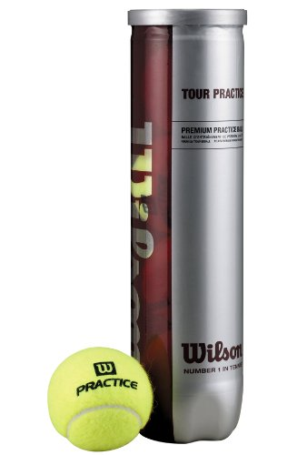 Wilson Tennisball Tour Practice, gelb, 4 Stück