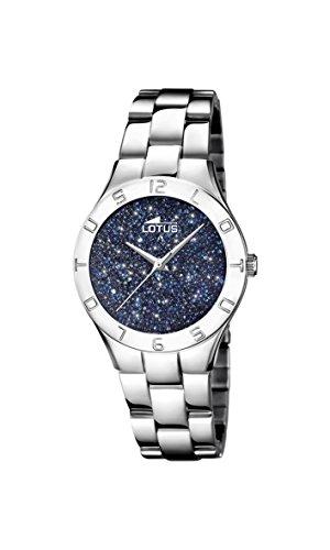 Lotus Watches Reloj Análogo clásico para Mujer de Cuarzo con Correa en Acero Inoxidable 18568/2