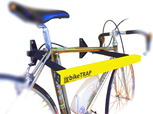 Schloss und Wandhalterung Antidiebstahl für Ihr Fahrrad bikeTRAP der höchsten Sicherheit. Bewahren Sie Ihr Fahrrad ohne Probleme auf!