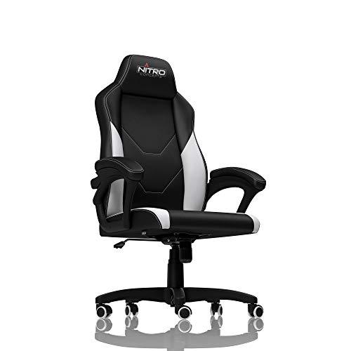 Preisvergleich Produktbild NITRO CONCEPTS C100 Gamingstuhl - Bürostuhl - Schreibtischstuhl - PU-Kunstleder - Schwarz / Weiß