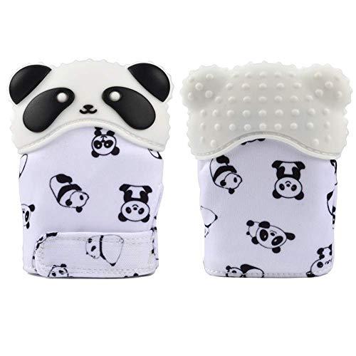 Manopla Guante Mordedor en Forma de Panda para Bebés - Silicona Orgánica...