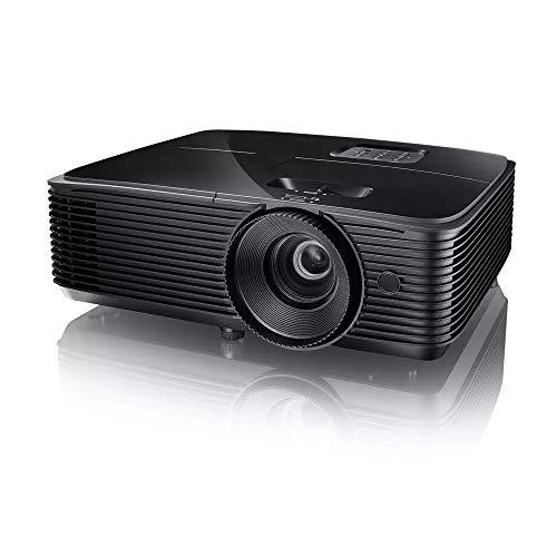 PQXOER Proyector DLP Proyector con altavoz de 10 W 3600 lúmenes, resolución 3D 1920 x 1200 Full HD 1080p Proyector para uso doméstico y empresarial, proyector de vídeo (color: negro, talla única)