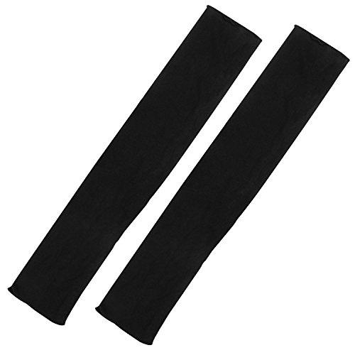 TRIXES Modische lange Damenhandschuhe in Schwarz, fingerlos, für Oper Retro