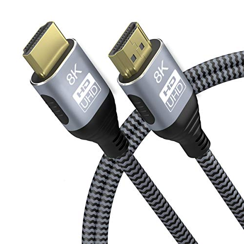 CABLEDECONN Kupferkabel, 8K, HDMI 2.1, UHD HDR 48 Gbit/s 8K@60Hz 4K@120Hz HDCP2.2 4: 4: 4 HDR 3D ARC HDMI-Kabel Kompatibel mit HDMI-Laptops PS5 Xbox HDTVs Projektoren 5m