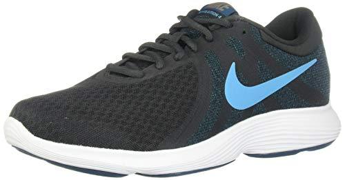 Nike Herren Revolution 4 4E Turnschuh, Aus Noir/Lichtstrom Blau-Blue Force, 38.5 EU