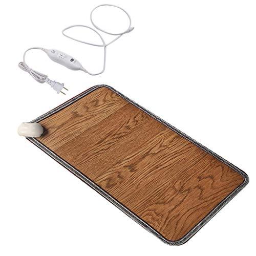 Alfombra térmica eléctrica con calefacción para pies y alfombras, 3 tamaños calentados, para el hogar y la oficina