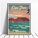 Hdksa Kapstadt Malerei Leinwand Poster Wandkunst Bilder