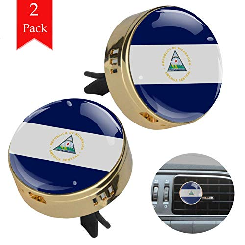 Bennigiry Bandera de Nicaragua, difusor de aceites esenciales de aromaterapia para coche, oficina, hogar, 2 unidades