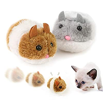 Cat Toy Plush Mouse Moving, Interactive Cat Toy Mouse, Pet Mouse Toys for Indoor Cats, Cat Toy Self Play for Kitty and Cats, Cat Training Toy, Cat Mice Toys 2 Pack