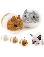 2 szt. automatyczna poruszająca się myszka kot zabawka z realistycznym