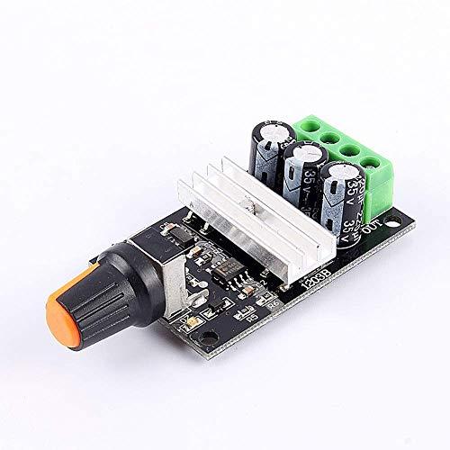 1PC PWM DC 6V 12V 24V 28V 3A Regulador del controlador del interruptor del motor Control variable ajustable con interruptor de potenciómetro (Color: AS Show)