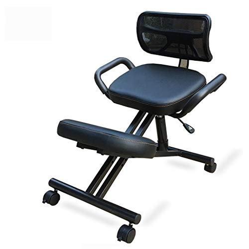Lowest Prices! Kneeling Chair for Office, Ergonomic Posture Knee Desk Stool with Back, Adjustable Wo...