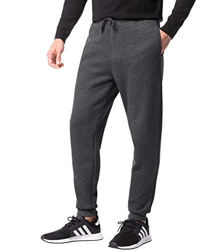 LAPASA Herren Jogginghose Sweatpants Jogger Baumwolle Innenfleece Enger Beinabschluss MEHRWEG M22 (Dunkelgrau, L (letzter Abbildung zufolge))
