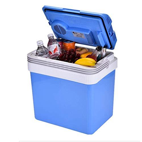 XHCP Kompakter Kühlschrank, tragbarer 24L 32L Auto Mini Kühlschrank Gefrierschrank Leichter isolierter Kühler Wärmer Box für Reisen/Interferon/Schlafzimmer/Büro 12V 220V (Größe: 24L)