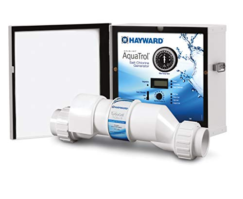 Hayward W3AQ-TROL-HP AquaTrol Salt Chlorination System for Above-Ground Pools up to 18,000 Gallons with Hose/Pipe Fittings, Straight Blade Line Cord and Outlet