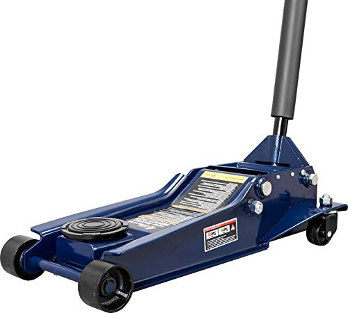 TCE AT84007U Torin Hydraulic Low Profile Service/Floor Jack with Dual Piston Quick Lift Pump, 4 Ton (8,000 lb) Capacity, Blue