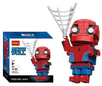 CuteDoll Figura de Spiderman de los Vengadores Avengers Endgame Puzzle Juego Bloques de construccion tamaño 9 cm DIY Mini Building Puzzle Juguete niños colección