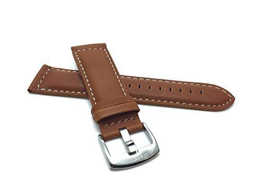Extra Lang (XL) Leder Uhrenarmband 28mm Hellbrun, matte Oberfläche, mit Naht , auch verfügbar in schwarz, braun, hellbraun