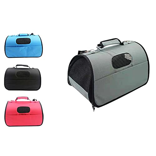 GREATOOL Bolso Perro Pequeño Bolsa Bandolera de Transporte de Gatos, 37x22x20CM, Transportín Perro Gato Transpirable, Color Aleatorio (Tamaño: S-37X22X20cm, Color Aleatorio)