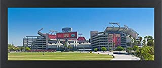 Easy Art Prints Panoramic Images's 'Raymond James Stadium Home to The NFL Tampa Bay Buccaneers and University of South Florida Bulls in Tampa, Florida' Framed Canvas - 32