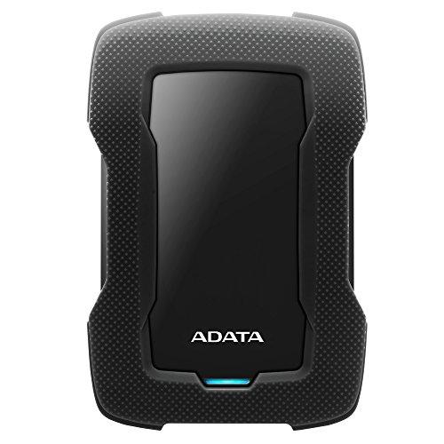 ADATA Disco Duro Externo HDD HD330, 1 TB, Negro USB 3.1,Contra Polvo y Salpicaduras
