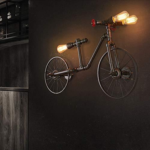IGOSAIT Delicado Americana Ciclo De La Lámpara Retro Loft Industrial Viento Nostálgico Café-bar Restaurante Lámpara Del Dormitorio Tubos Lámpara De Pared (Size : White)