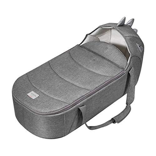 YYSYN Reisebett Tragbares Klappbett,3D Matratze Design,Mit Moskitonetz,Wasserdicht Und Schmutzabweisend,Konfigurieren Sie Den Sicherheitsgurt des Autos,grau