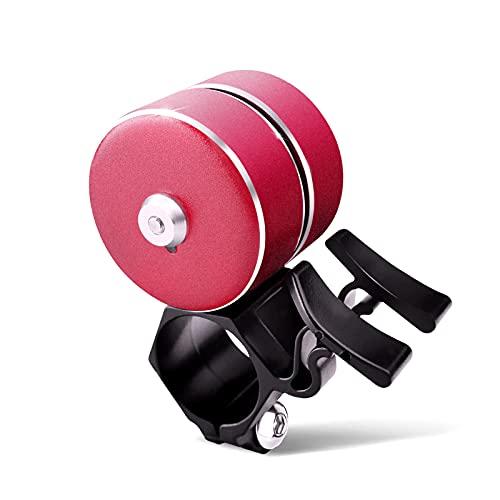 WINSHIDEN Fahrradklingel, laut Fahrradklingel 120, groß & klarer Klingelton für alle Arten von Fahrrädern Mountainbike, City Bikes, Kinderfahrräder-Rot