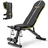 Weight Bench Adjustable, Figolo Workout Bench with Thicken Premium Steel Widen Seat for Home Gym...