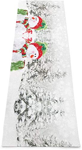 Toalla De Yoga Antideslizante,Feliz Navidad Con Feliz Muñeco De Nieve Colchoneta Ecológica Para Ejercicios De Fitness Para Entrenamiento Y Hogar,Colchoneta De Gimnasia,Ejercicios De Suelo Y Colchon