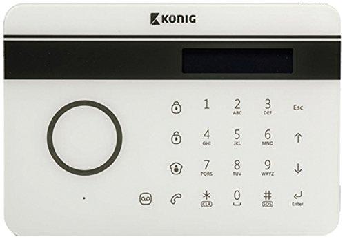 König SAS-ALARM300 Drahtloses Festnetz-/GSM-Alarmsystem