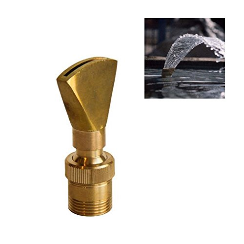 "NAVADEAL 1/2"" DN15 & 3/4"" DN20 Brass Narrow Fan Jet Fountain Nozzle Spray Sprinkler Head"
